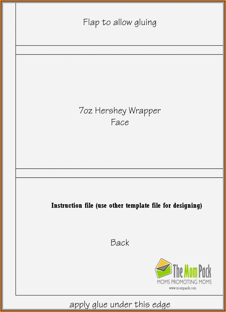 Blank Candy Bar Wrapper Template For Word