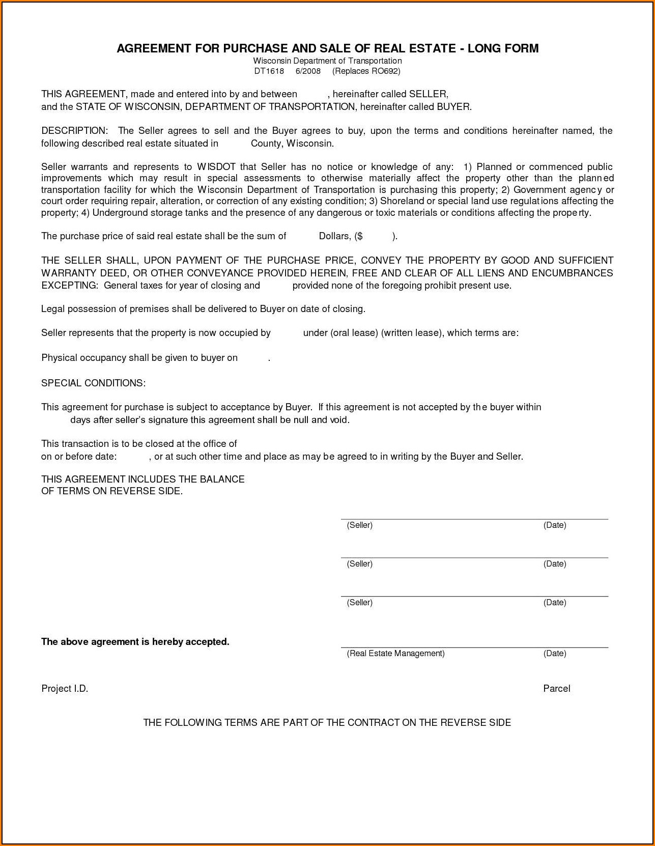 Blank Car Rental Agreement Form
