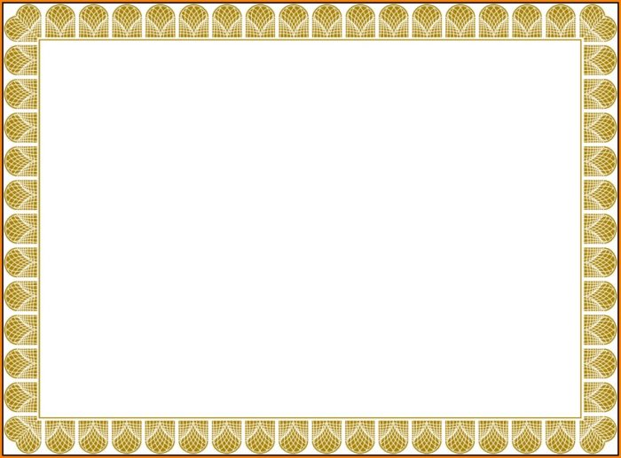 Blank Certificate Templates Free