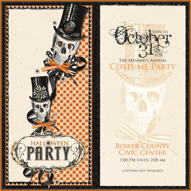 Blank Halloween Party Invitation Template