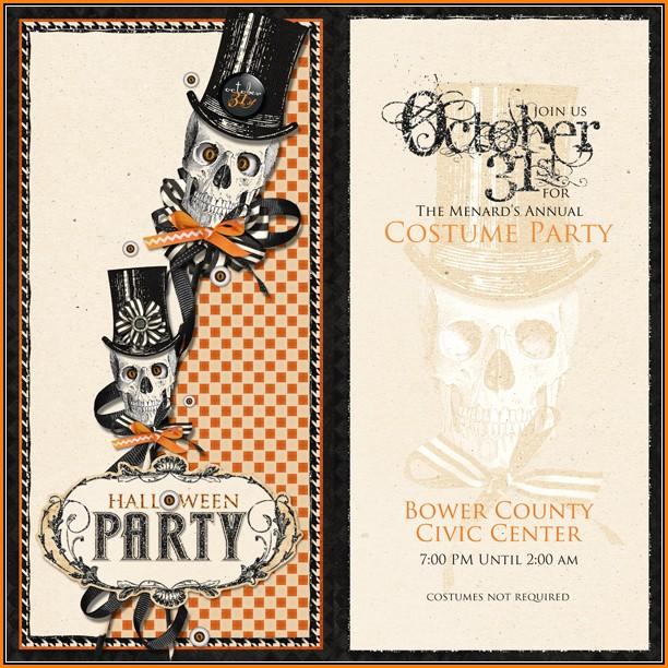Blank Halloween Party Invitation Template
