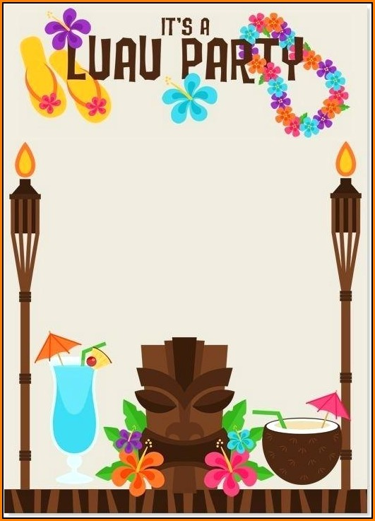 Blank Luau Invitation Template
