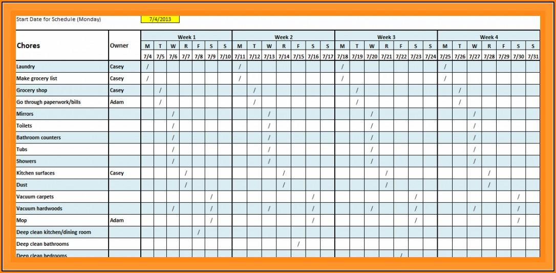 Blank Monthly Work Schedule Template