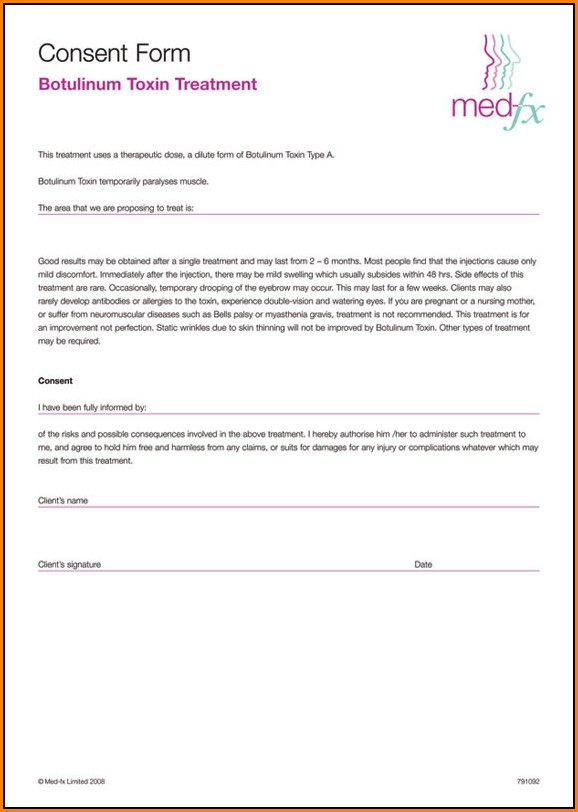 Botox Consent Form Allergan