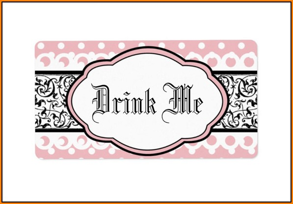 Bottle Label Template Free