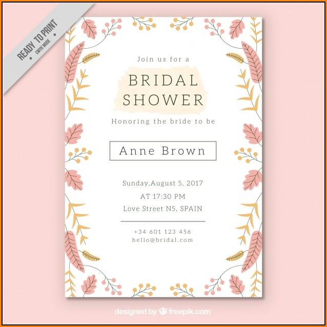 Bridal Shower Invitation Template Free