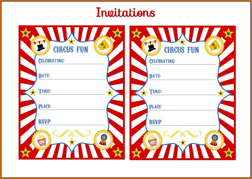 Carnival Ticket Invitation Template Free