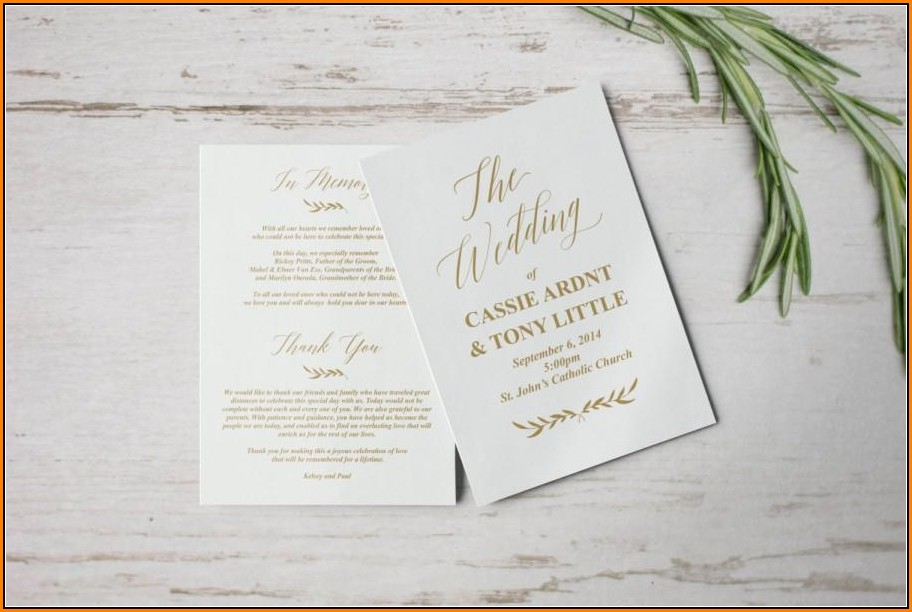 Catholic Wedding Program Template Download