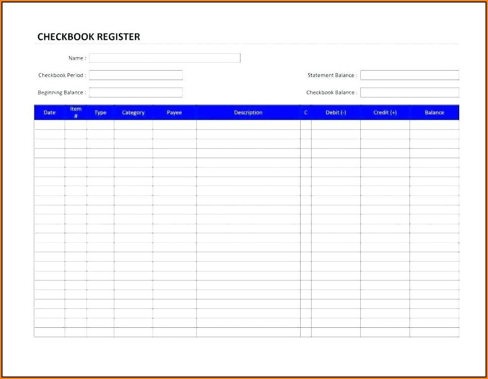 Checkbook Register Template For Mac