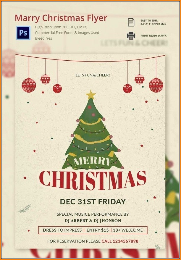 Christmas Flyer Templates For Microsoft Word