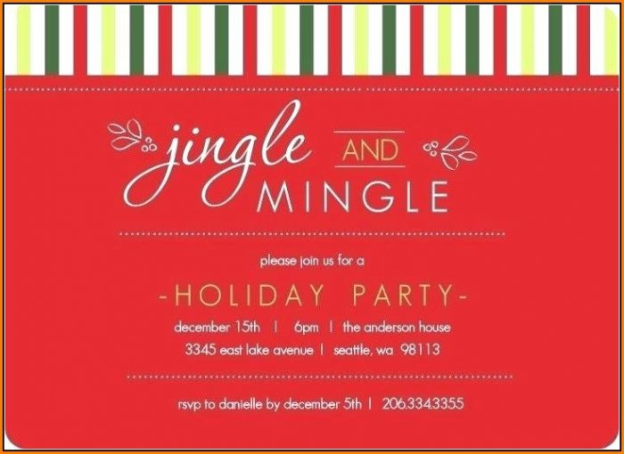Christmas Invitation Templates Free Download Word