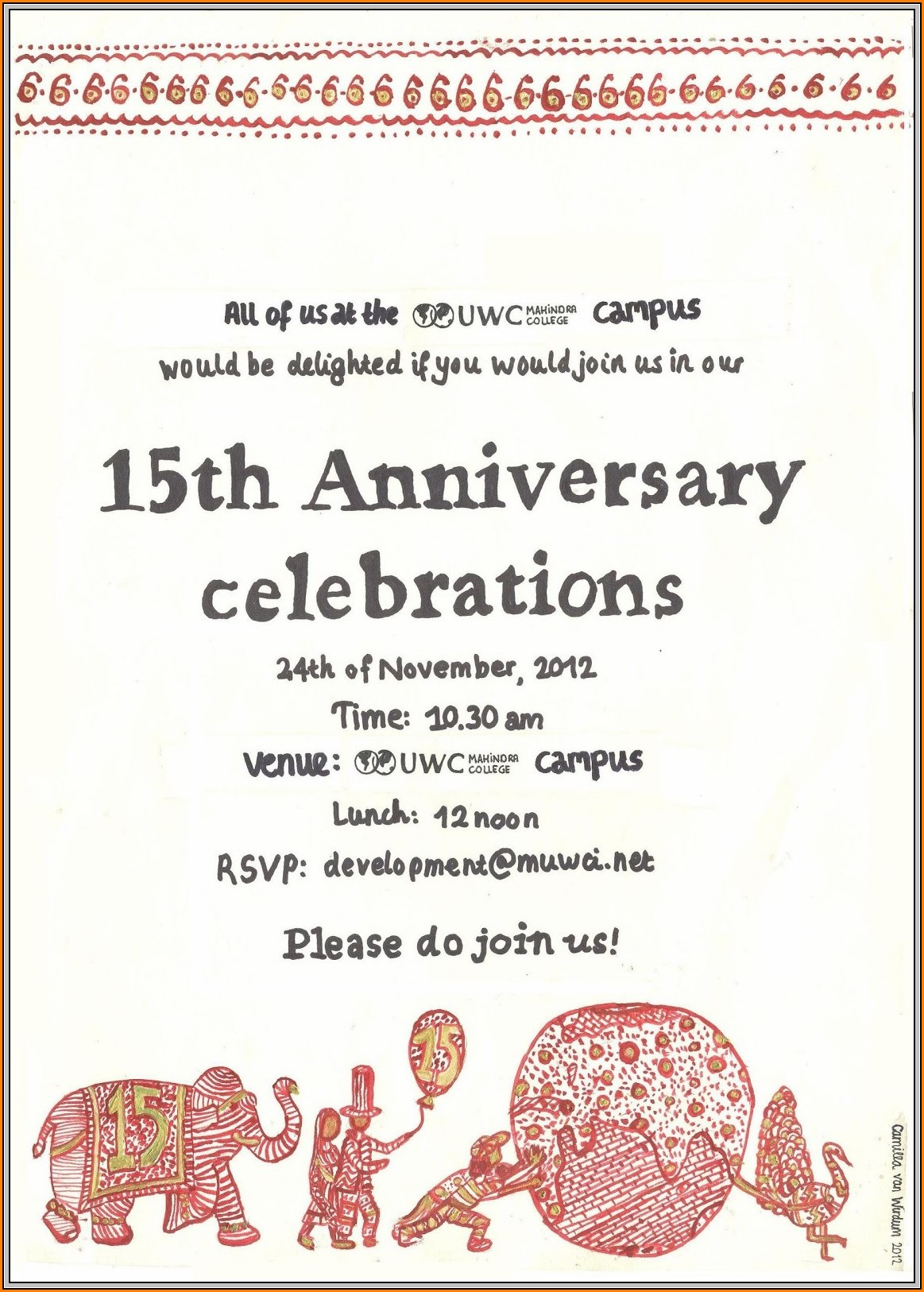 Church Anniversary Invitation Template
