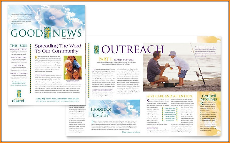 Church Newsletter Templates Microsoft Word