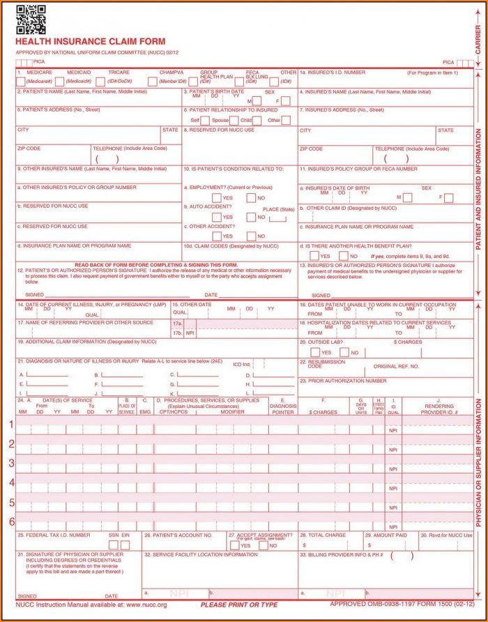 Cms 1500 Form Free