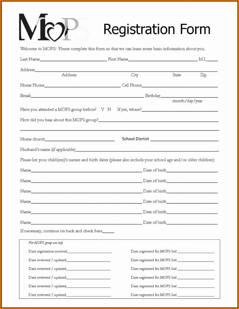 Conference Registration Form Template Free Download