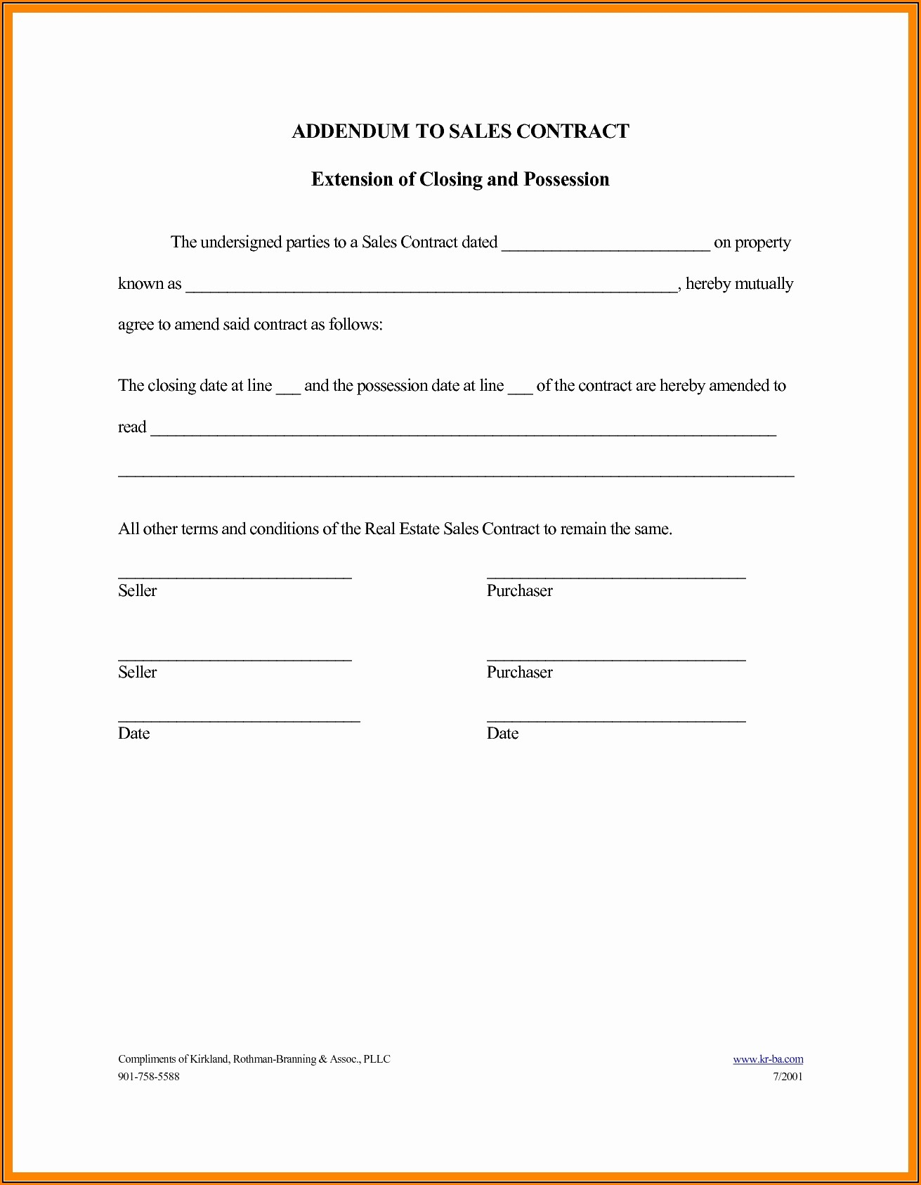 Construction Contract Addendum Template