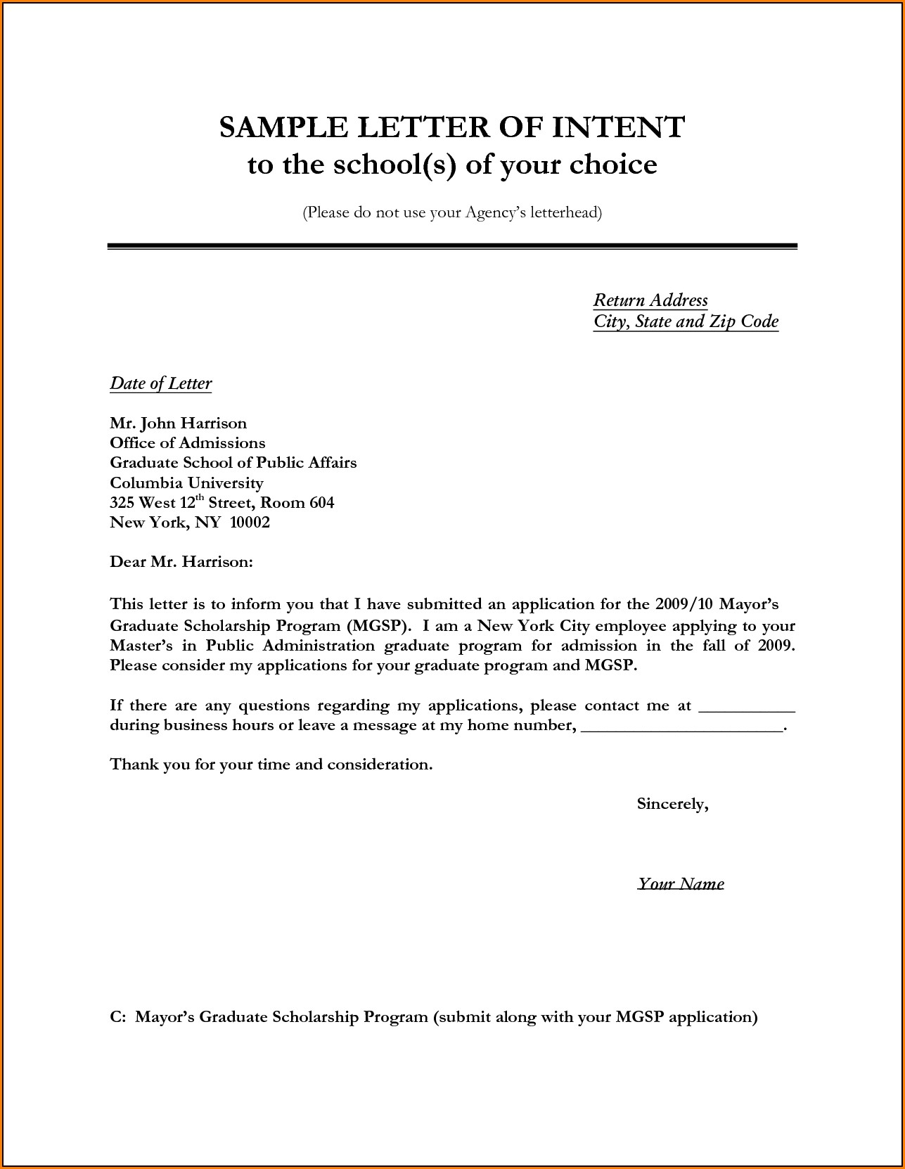 Constructive Eviction Letter Template