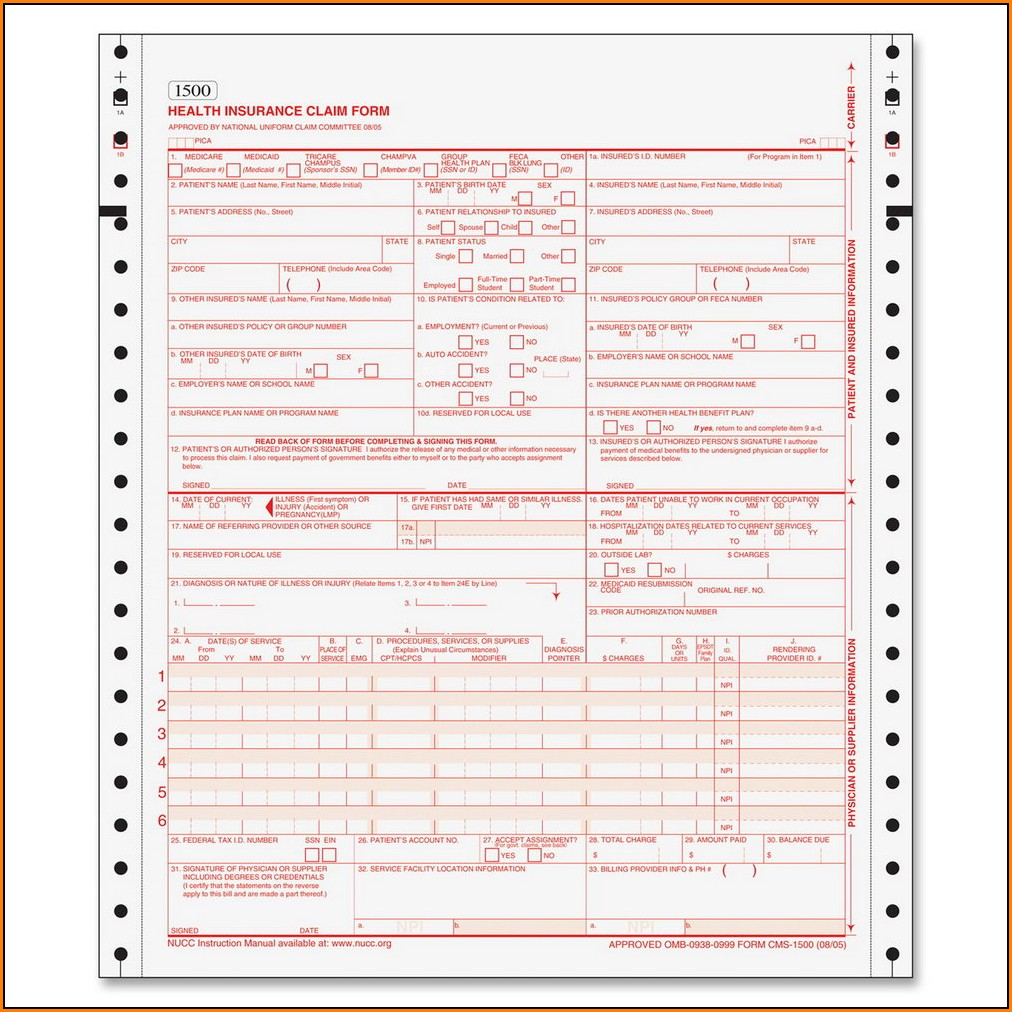 Copy Of Hcfa 1500 Claim Form