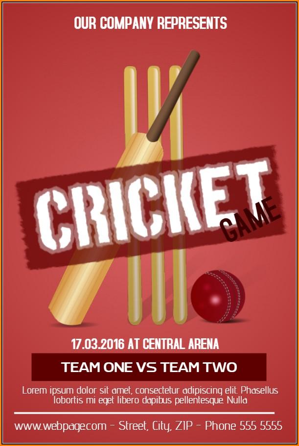 Cricket Birthday Party Invitation Templates