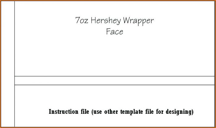 Custom Hershey Bar Wrapper Template