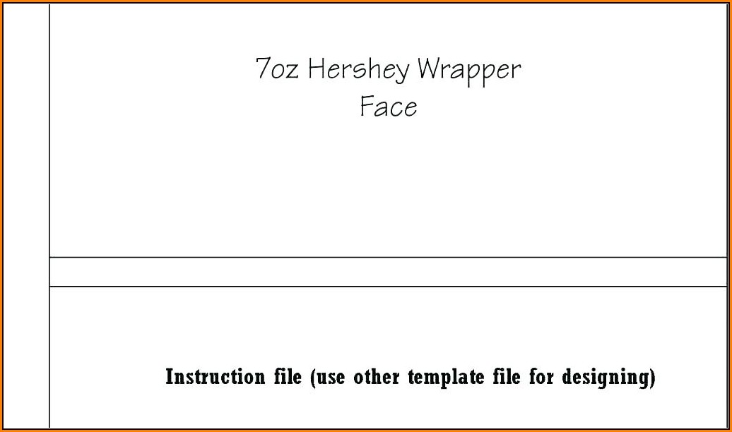 Custom Hershey Bar Wrapper Template