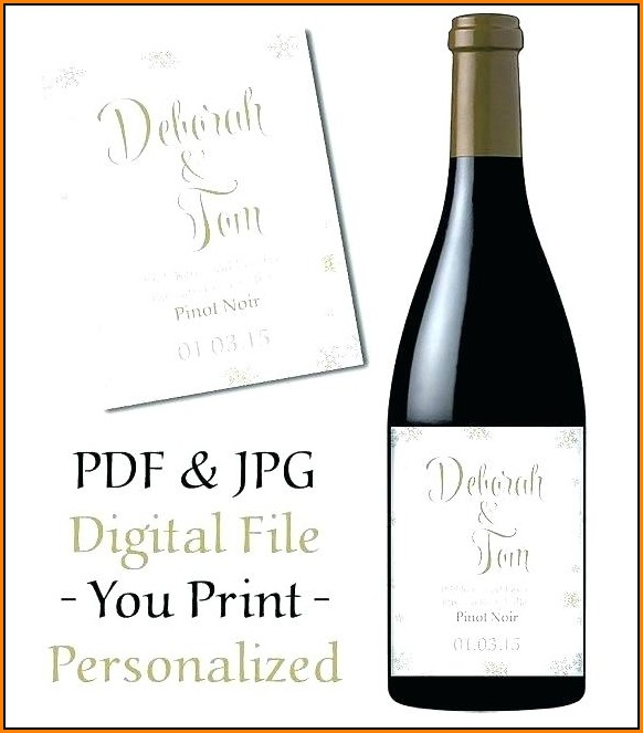 Custom Wine Label Template Free