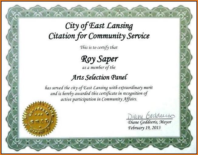 Customer Service Appreciation Certificate Templates