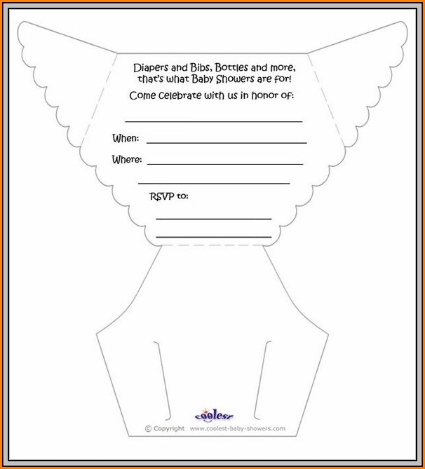Diaper Invitation Template Pdf