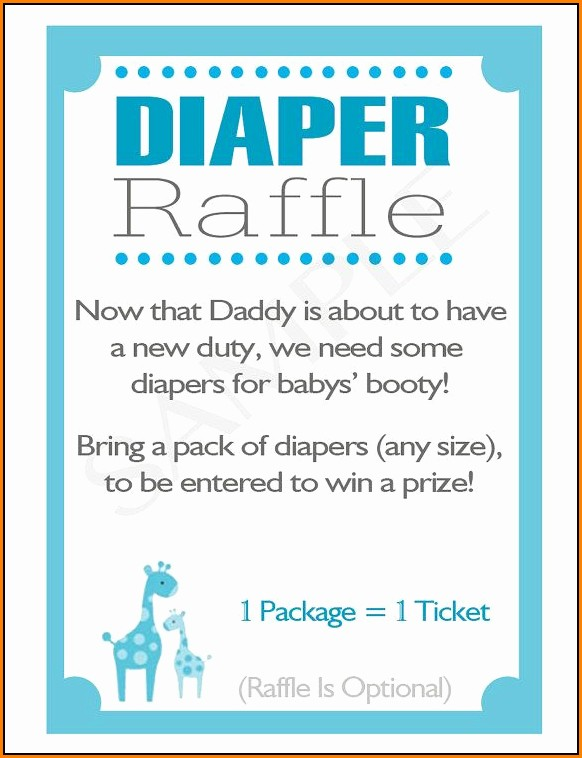Diaper Raffle Wording Template
