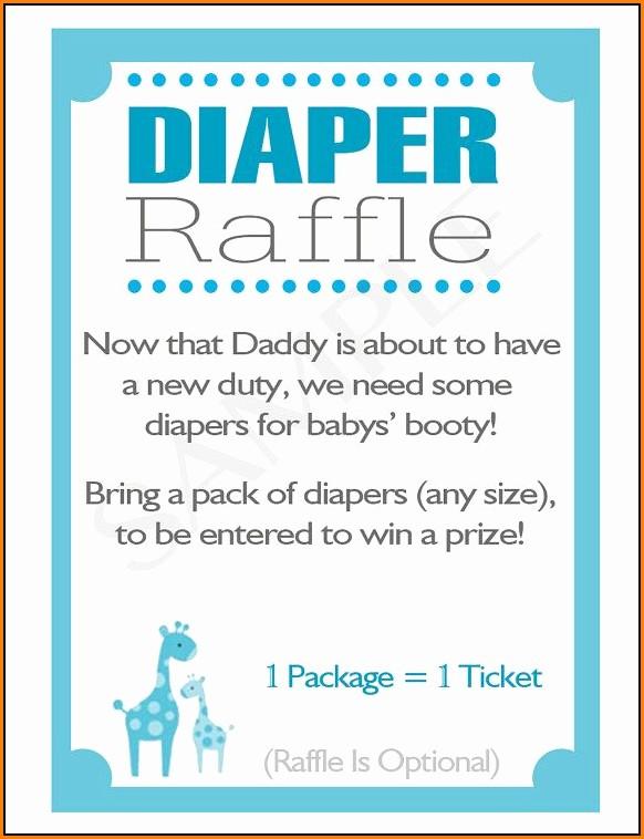 Diaper Raffle Wording Template