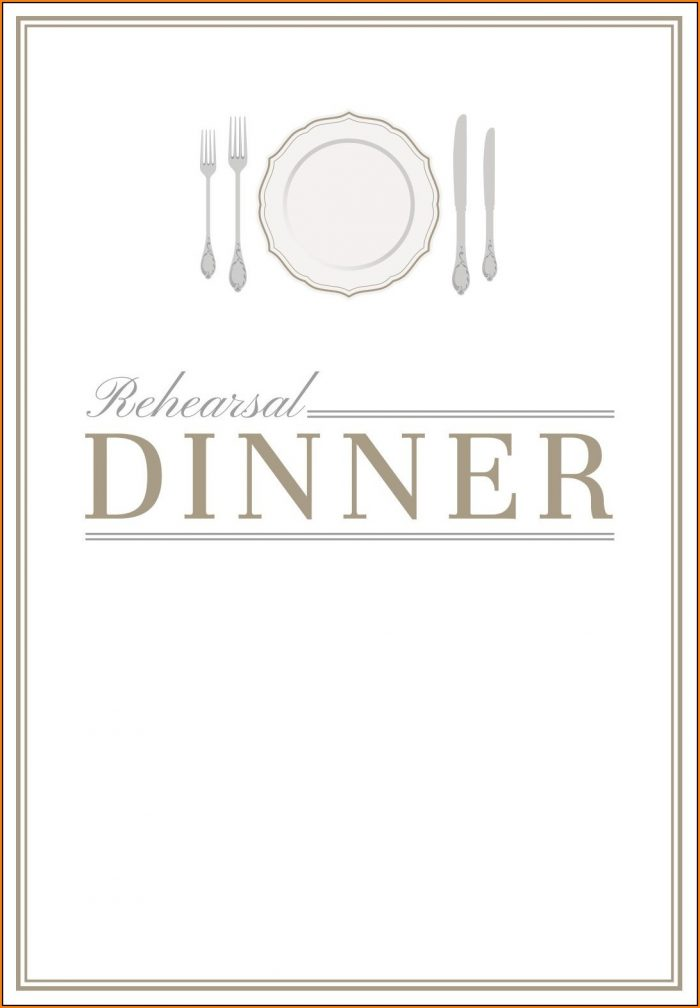 Dinner Invitation Template Free Printable