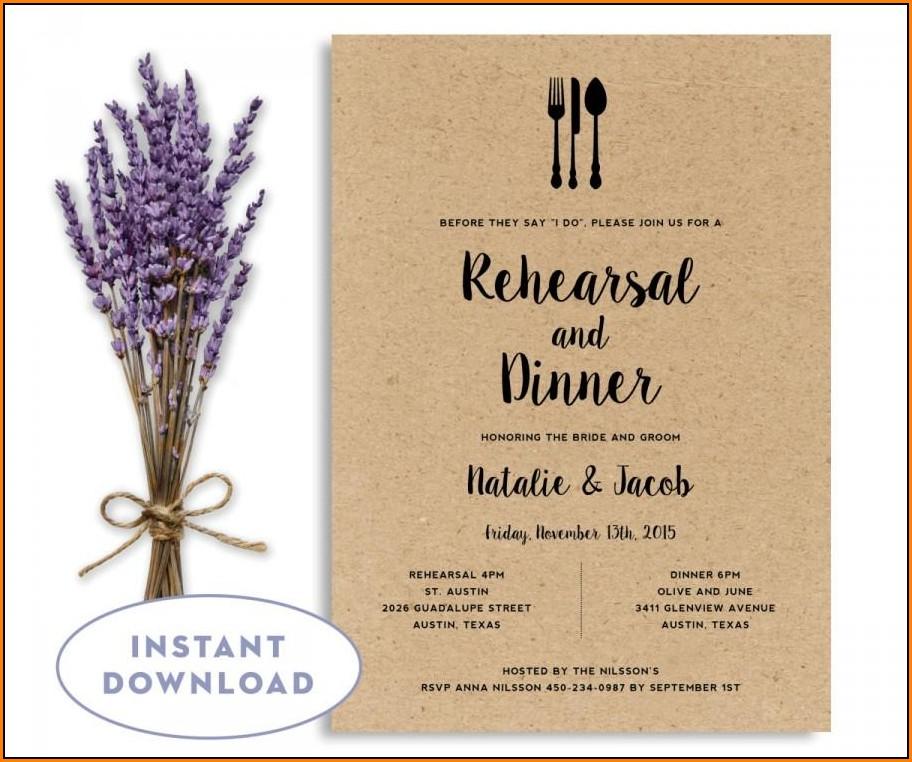 Dinner Invitation Template Word