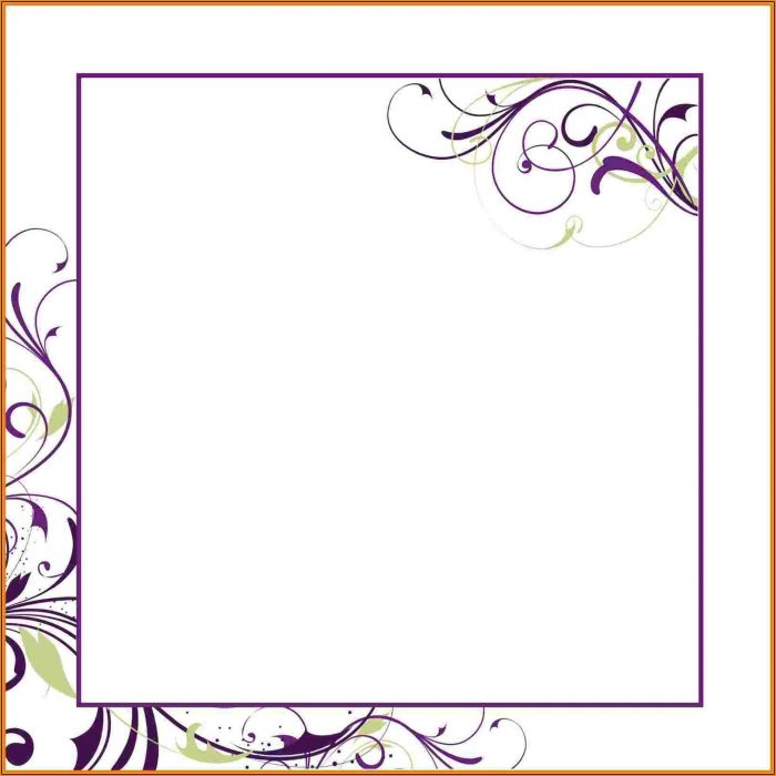 Downloadable Blank Invitation Templates