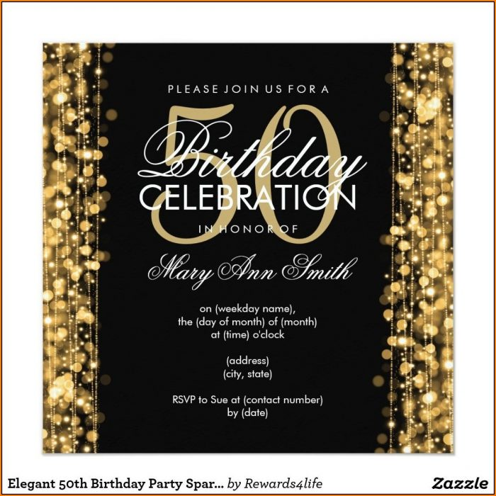 Editable 50th Birthday Invitation Templates