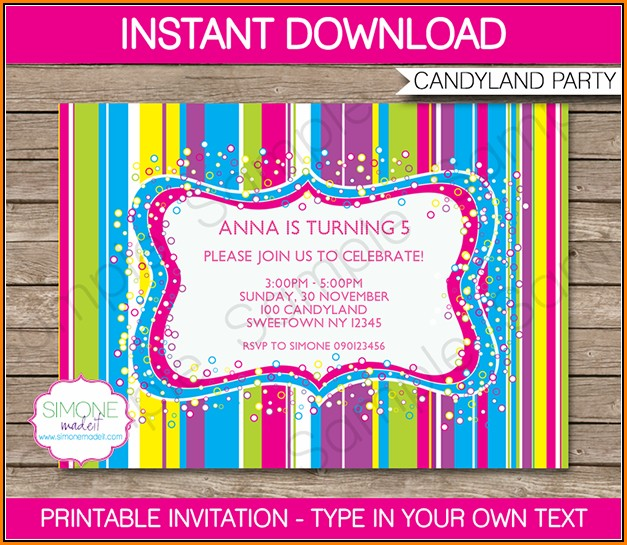 Editable Birthday Invitations Templates Free Princess