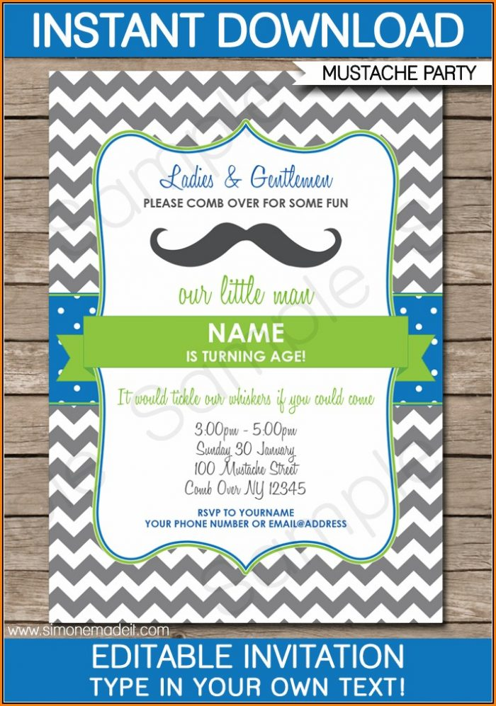 Editable Birthday Invitations Templates Free Printable