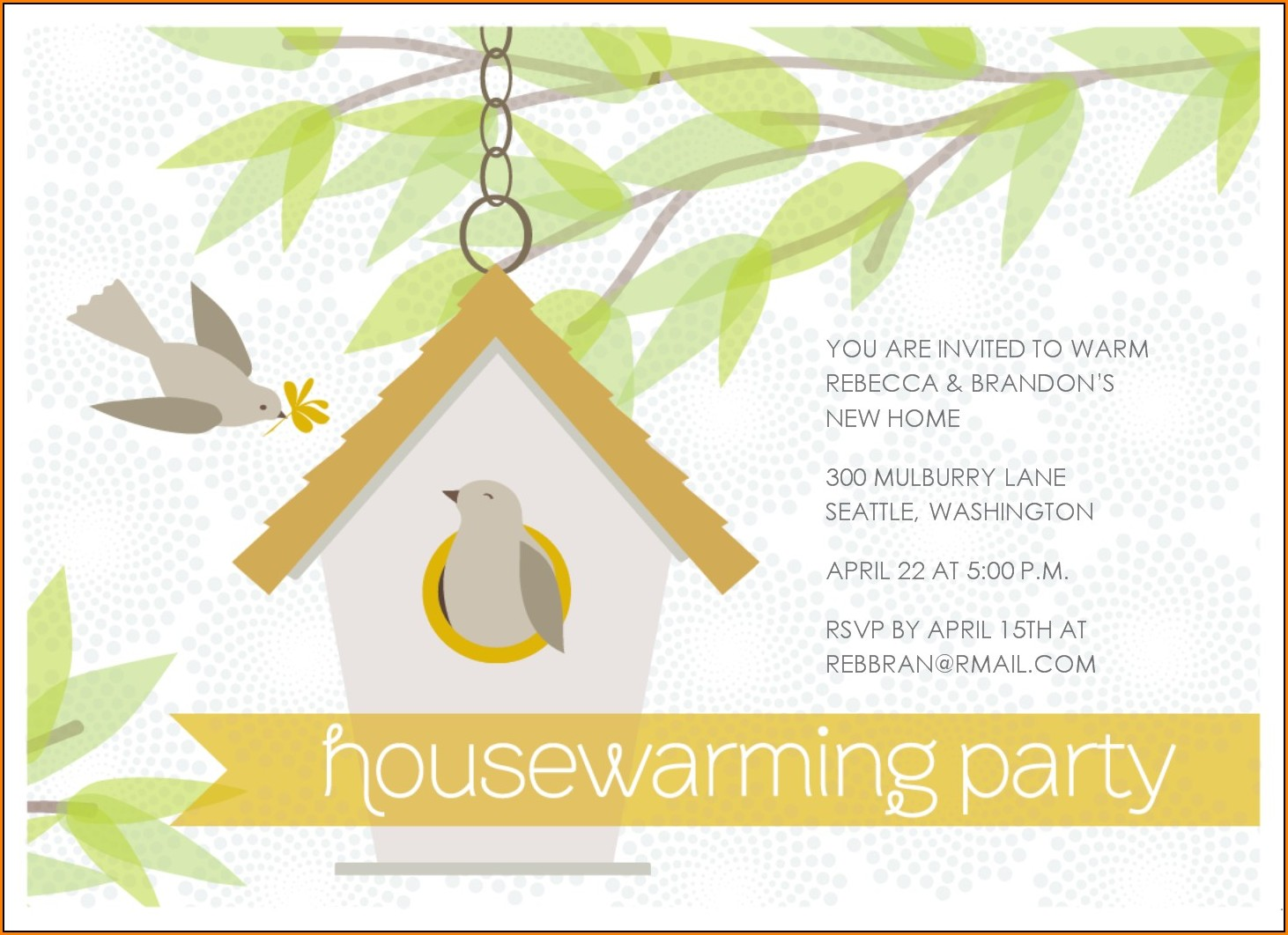 Editable Housewarming Invitation Templates