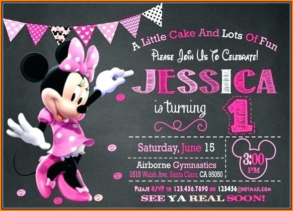 Editable Minnie Mouse Invitation Template