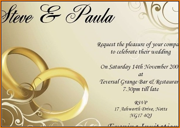 Editable Wedding Invitation Templates Free Download With Photo