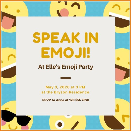 Emoji Invitation Templates