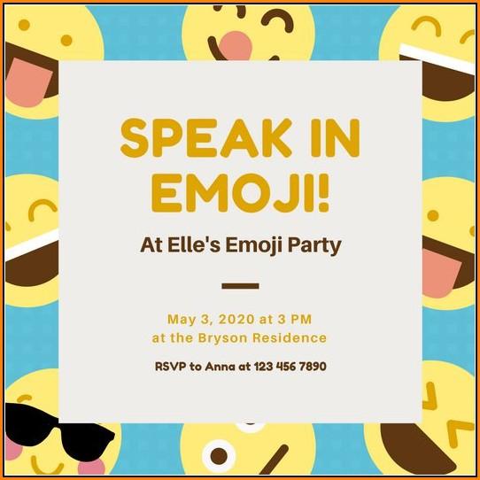 Emoji Invitation Templates