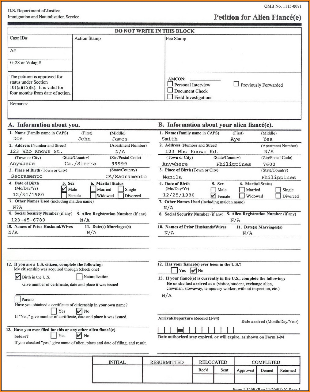 Fiance Visa Forms Needed