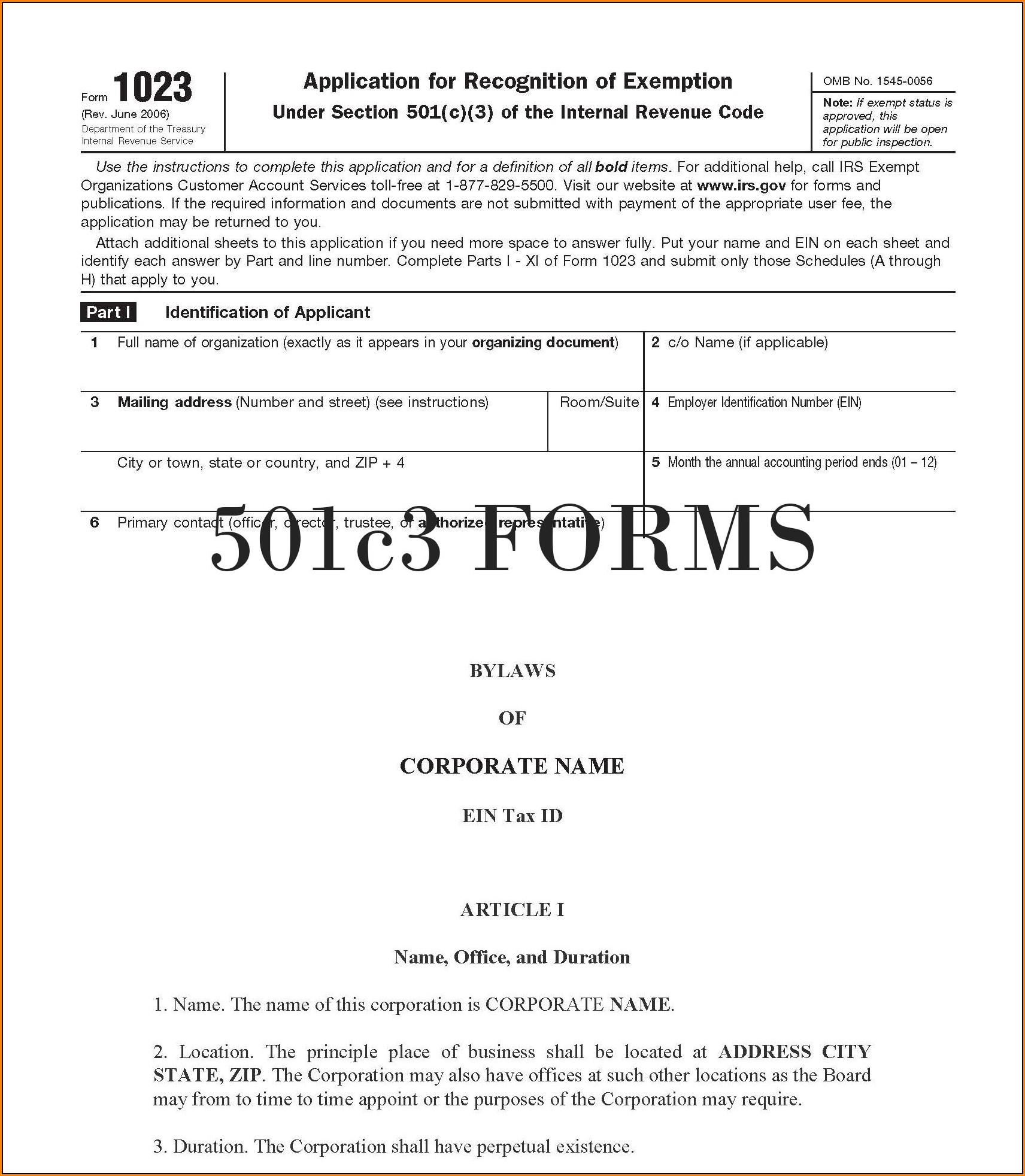 Forming A 501c3