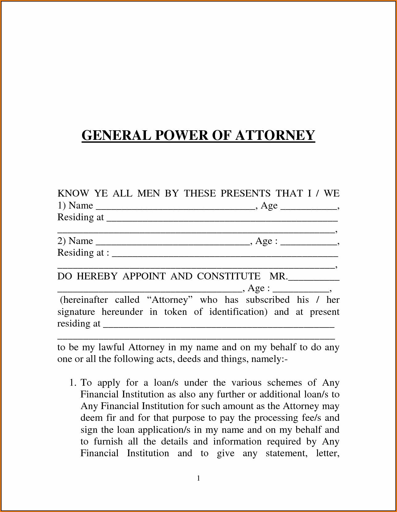 Free Printable Power Of Attorney Forms Online