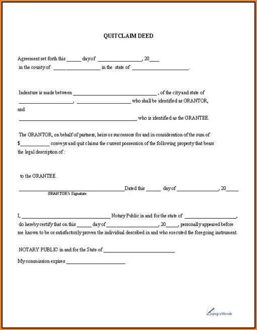 Free Quitclaim Deed Form