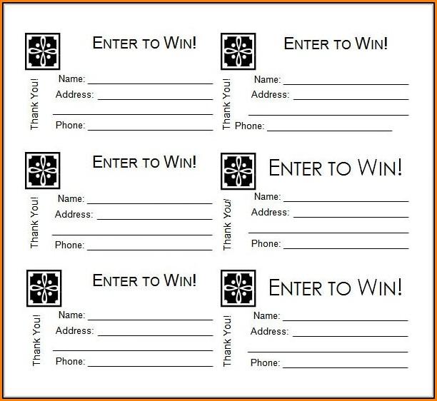 Free Sample Raffle Tickets Template