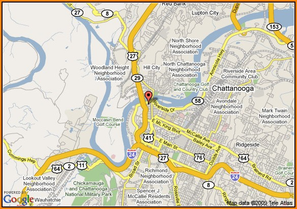 Gatlinburg Hotels Downtown Map