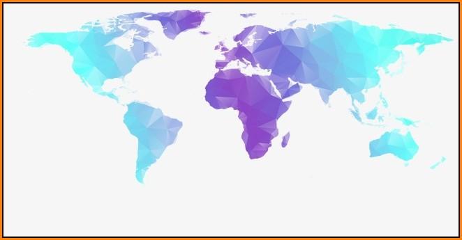 Geometric World Map Png