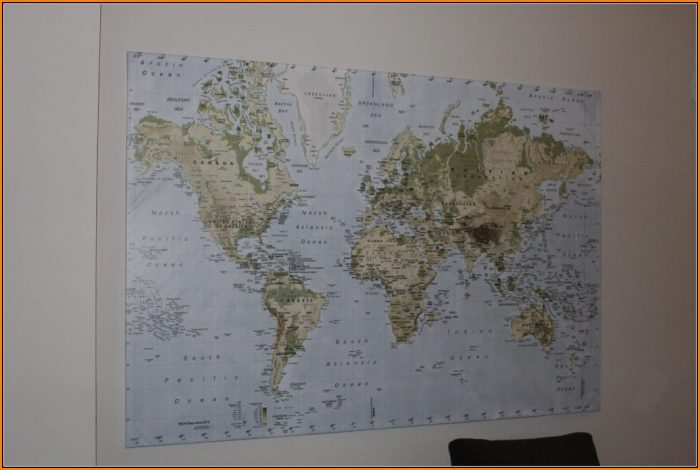 Giant World Map Poster Ikea
