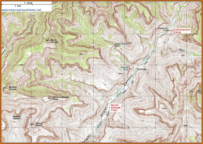Grand Canyon Topographic Map